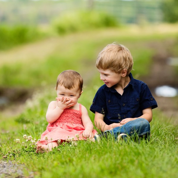 Hudson & Finnley Explore the Farm - New Take on Cornwall Fall Family Portraits!